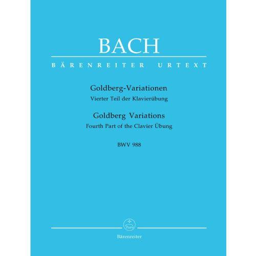 BARENREITER BACH J.S - GOLDBERG VARIATIONS BWV 988 - PIANO