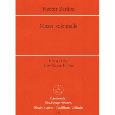 BARENREITER BERLIOZ HECTOR - MESSE SOLENNELLE - CONDUCTEUR