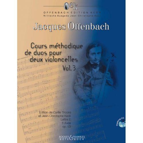 SCHOTT OFFENBACH J. - COURS METHODIQUE DE DUOS OP. 53 BAND 5 - VIOLONCELLE