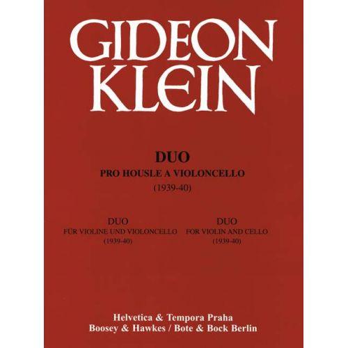 BOTE AND BOCK KLEIN GIDEON - DUO - VIOLIN AND CELLO
