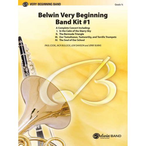 ALFRED PUBLISHING BELWIN VERY BEGINNING BAND KIT #1 - SCORE AND PARTS