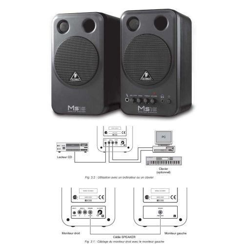 BEHRINGER MS16 2 x 8W (PAIR PRICE)