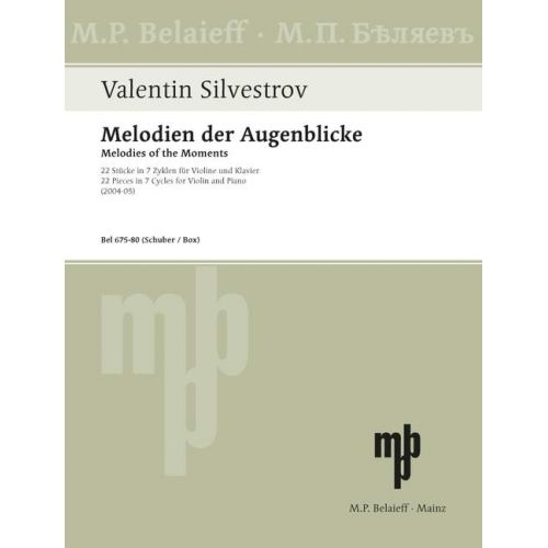 SCHOTT SILVERSTROV V. - MELODIES OF THE MOMENTS - CYCLE V - VIOLON