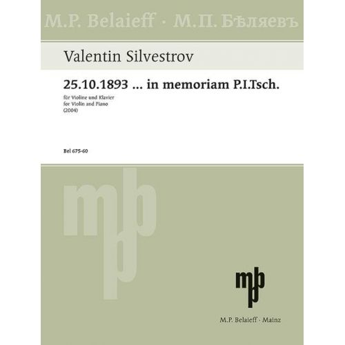 SCHOTT SILVERSTROV V. - MELODIES OF THE MOMENTS - CYCLE VI - VIOLON