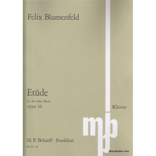 BELAIEFF BLUMENFELD F. - ETUDE LA BEMOL MAJEUR POUR LA MAIN GAUCHE OP. 36 - PIANO