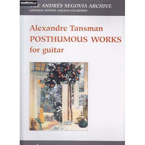 BERBEN TANSMAN A. - POSTHUMOUS WORKS - GUITARE