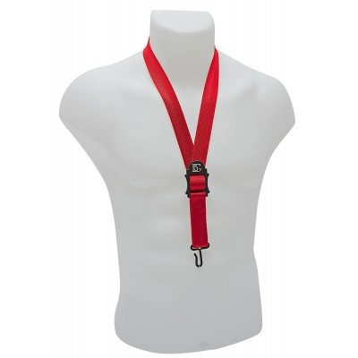 BG FRANCE STRAPS STANDARD - NECK STRAP - RED - METAL HOOK