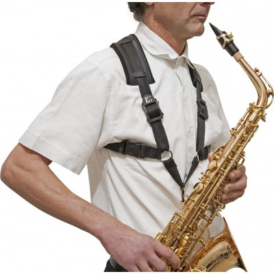 BG FRANCE S43CM - MALE SAXOPHONE HARNESS ALTO / TENOR / BARITONE CONFORT XL SIZE (METAL HOOK)
