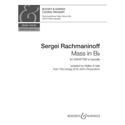 SCHOTT RACHMANINOV S. - MESSE IN H-MOLL - VOIX