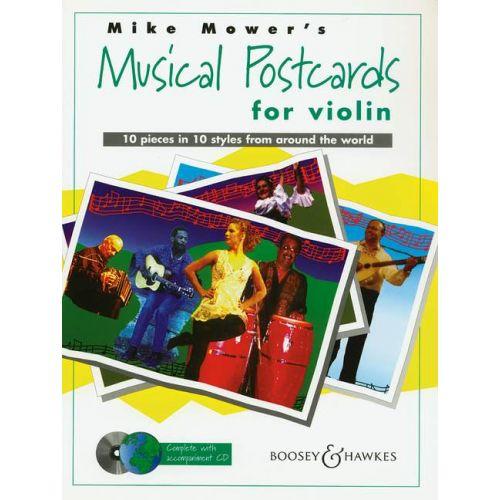 BOOSEY & HAWKES MOWER MIKE - MUSICAL POSTCARDS + CD - VIOLIN