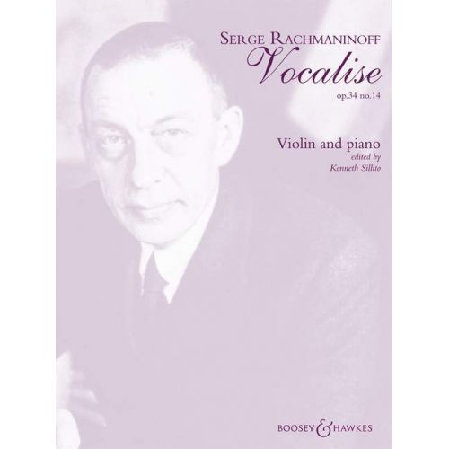 BOOSEY & HAWKES RACHMANINOV S. - VOCALISE OP.34/14 - VIOLIN AND PIANO