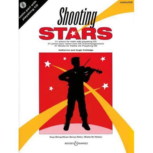 BOOSEY & HAWKES COLLEDGE HUGH / COLLEDGE KATHERINE - SHOOTING STARS + CD - VIOLIN