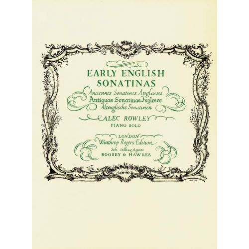 BOOSEY & HAWKES EARLY ENGLISH SONATINAS - PIANO
