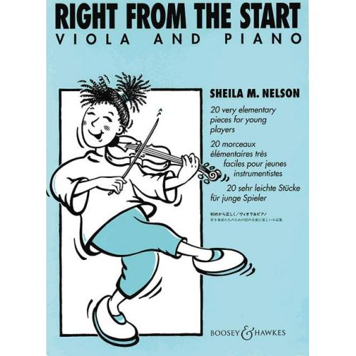 BOOSEY & HAWKES NELSON SHEILA M. - RIGHT FROM THE START - VIOLA AND PIANO