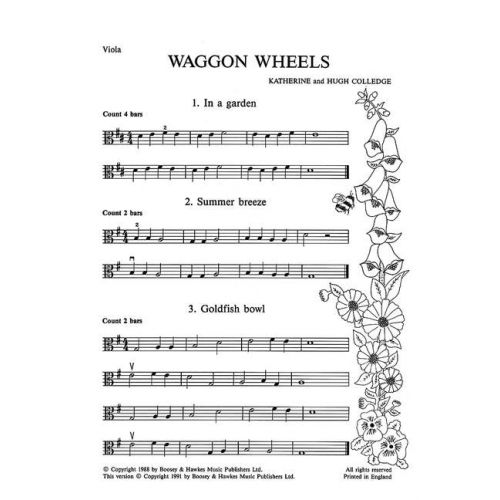 BOOSEY & HAWKES COLLEDGE K. / COLLEDGE H. - WAGGON WHEELS - VIOLA