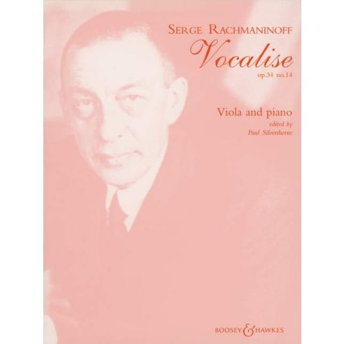 BOOSEY & HAWKES RACHMANINOFF SERGEI WASSILJEWITSCH - VOCALISE OP. 34/14 - VIOLA AND PIANO