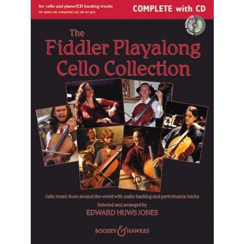 BOOSEY & HAWKES THE FIDDLER PLAYALONG CELLO COLLECTION + CD - CELLO AND PIANO, GUITAR AD LIB.