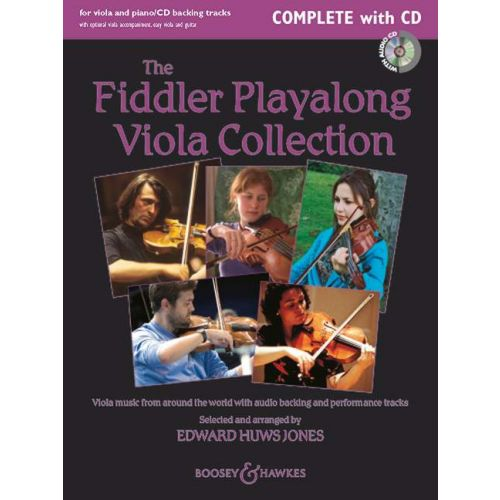 BOOSEY & HAWKES HUWS JONES E. - THE FIDDLER PLAYALONG VIOLA COLLECTION + CD - 2 VIOLA AND PIANO, GUITAR AD LIB.
