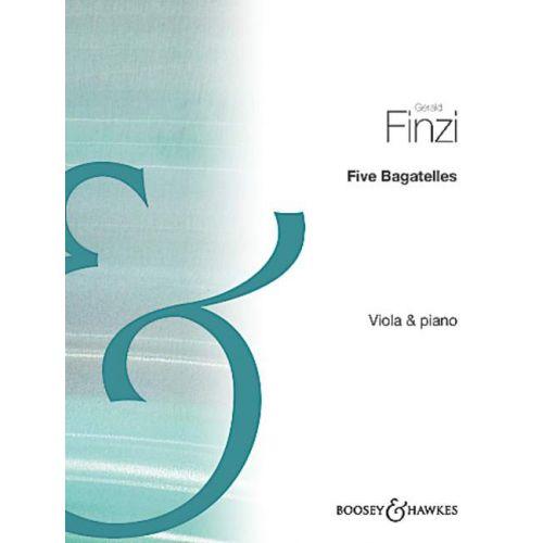 BOOSEY & HAWKES FINZI GERALD - FIVE BAGATELLES - VIOLA AND PIANO