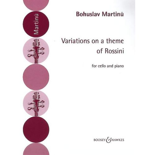 BOOSEY & HAWKES MARTINU BOHUSLAV - VARIATIONS ON A THEME OF ROSSINI - CELLO AND PIANO