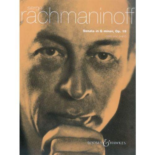 BOOSEY & HAWKES RACHMANINOFF SERGE - SONATE EN SOL MINEUR OP 19 POUR VIOLONCELLE ET PIANO