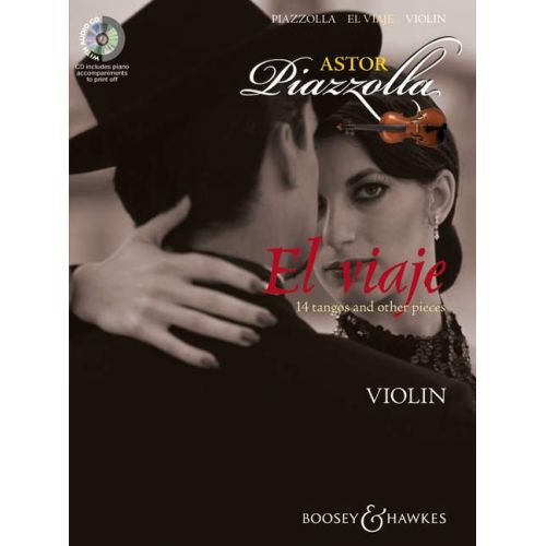 BOOSEY & HAWKES PIAZZOLA ASTOR - EL VIAJE - VIOLIN AND PIANO