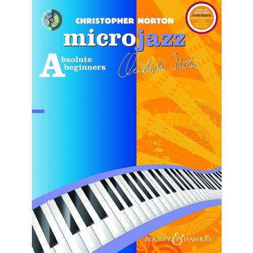 BOOSEY & HAWKES NORTON CHRISTOPHER - MICROJAZZ FOR ABSOLUTE BEGINNERS + CD - PIANO