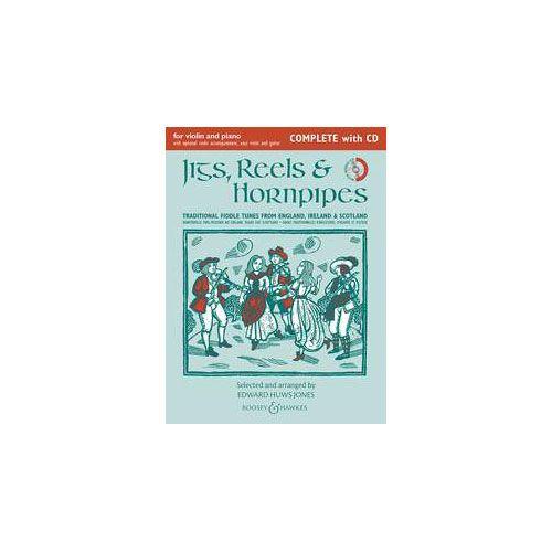 BOOSEY & HAWKES HUWS JONES EDWARD - JIGS, REELS & HORNPIPES (NEW EDITION) - VIOLIN AND PIANO, GUITAR AD LIB.