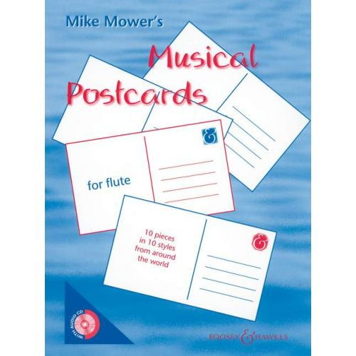 BOOSEY & HAWKES MOWER MIKE - MUSICAL POSTCARDS - FLUTE