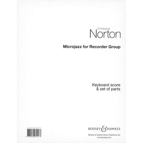 BOOSEY & HAWKES NORTON CHRISTOPHER - MICROJAZZ FOR RECORDER GROUP - 3 FLÛTES À BEC (SSA), PIANO ET...