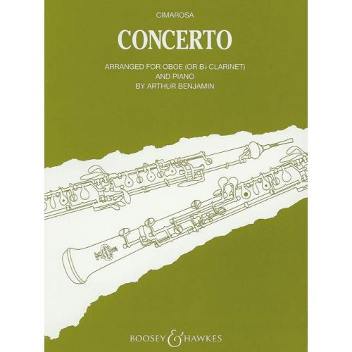 BOOSEY & HAWKES CIMAROSA DOMENICO - CONCERTO FOR OBOE AND STRINGS - OBOE  AND STRINGS