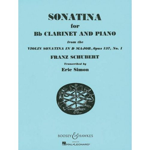 BOOSEY & HAWKES SCHUBERT FRANZ - SONATINA OP. 137/1 - CLARINET AND PIANO