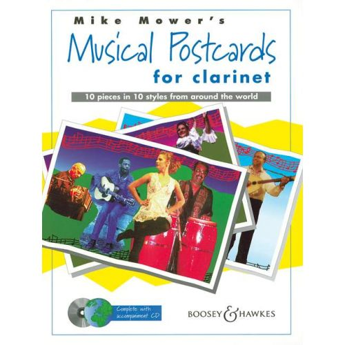 BOOSEY & HAWKES MOWER MIKE - MUSICAL POSTCARDS + CD - CLARINET