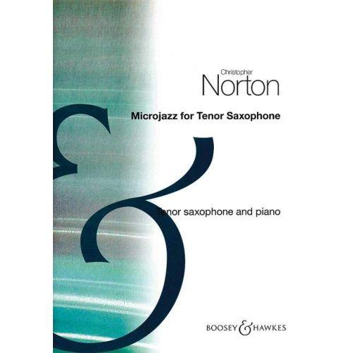 BOOSEY & HAWKES NORTON CHRISTOPHER - MICROJAZZ FOR TENOR SAXOPHONE - SAXOPHONE TÉNOR ET PIANO