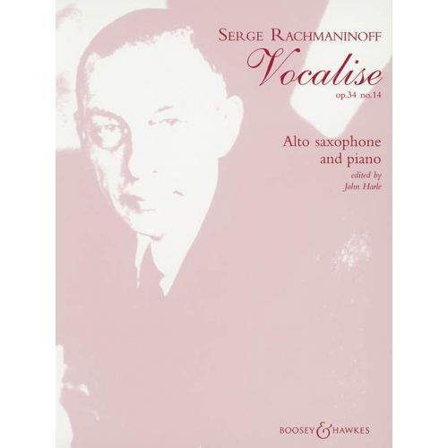 BOOSEY & HAWKES RACHMANINOFF S. - VOCALISE OP. 34/14 - ALTO SAXOPHONE AND PIANO