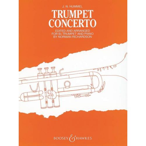 BOOSEY & HAWKES HUMMEL JOHANN NEPOMUK - TRUMPET CONCERTO - TRUMPET AND ORCHESTRA