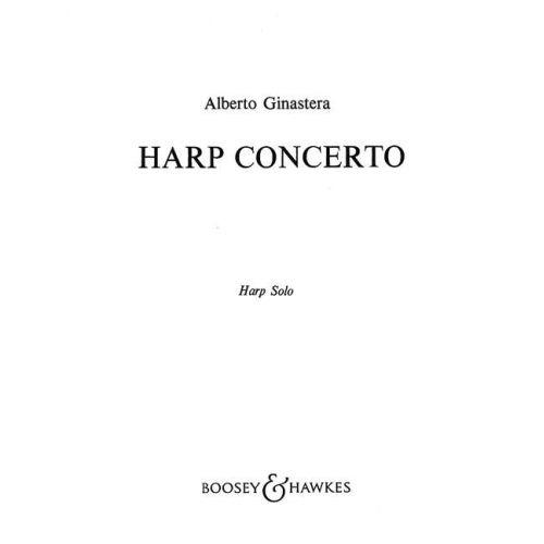 BOOSEY & HAWKES GINASTERA ALBERTO - HARP CONCERTO OP. 25 - HARP AND ORCHESTRA