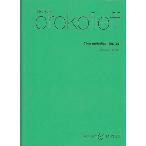 BOOSEY & HAWKES PROKOFIEFF S. - 5 MELODIES OP. 35 - CHANT-PIANO