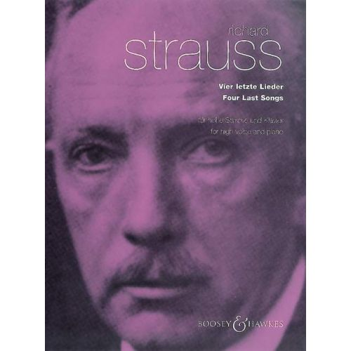 BOOSEY & HAWKES STRAUSS RICHARD - 4 LAST SONGS - HIGH VOICE, PIANO