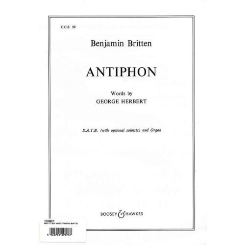 BOOSEY & HAWKES BRITTEN B. - ANTIPHON OP. 56B - CHOIR SATB AND ORGAN