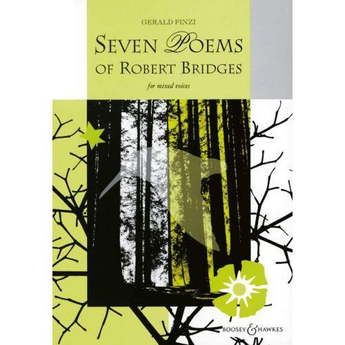 BOOSEY & HAWKES FINZI GERALD - SEVEN POEMS OF ROBERT BRIDGES OP. 17 - MIXED CHOIR