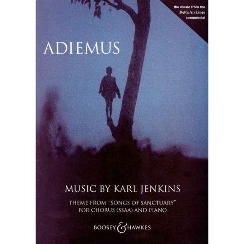BOOSEY & HAWKES JENKINS KARL - ADIEMUS - FEMALE CHOIR , RECORDER AND PIANO