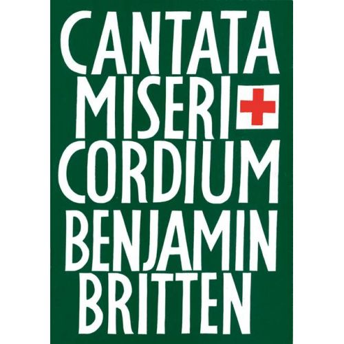 BOOSEY & HAWKES BRITTEN BENJAMIN - CANTATA MISERICORDIUM OP. 69 - MIXED CHOIR , SOLOISTS AND ORCHESTRA