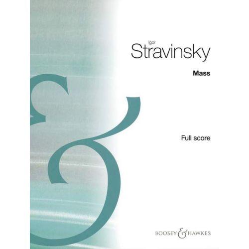 BOOSEY & HAWKES STRAVINSKY IGOR - MASS