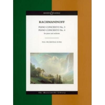 BOOSEY & HAWKES RACHMANINOFF S. - PIANO CONCERTOS NO. 3 & 4 - PIANO AND ORCHESTRA