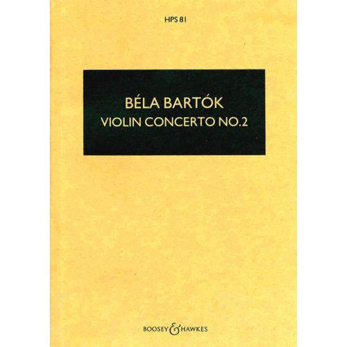 BOOSEY & HAWKES BARTOK BELA - VIOLIN CONCERTO NO. 2 - VIOLIN AND ORCHESTRA