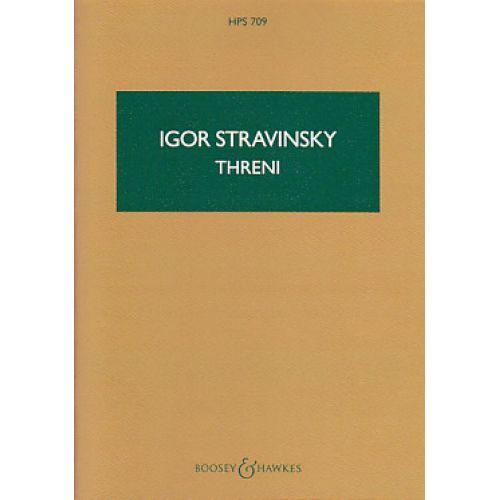 BOOSEY & HAWKES STRAWINSKY I. - THRENI - CONDUCTEUR DE POCHE