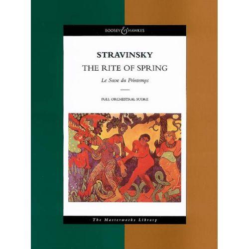 BOOSEY & HAWKES STRAVINSKY IGOR - LE SACRE DU PRINTEMPS (CONDUCTEUR)