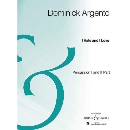 SCHOTT ARGENTO D. - I HATE AND I LOVE - VOIX