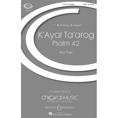 SCHOTT PAGE N. - K'AYAL TA'AROG - VOIX
